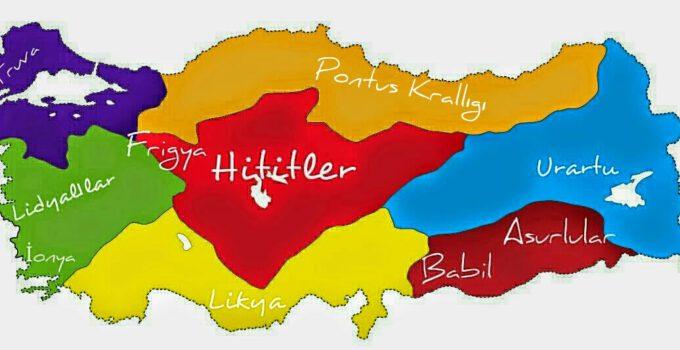 Anadolu Uygarlıkları Medeniyetleri Haritası