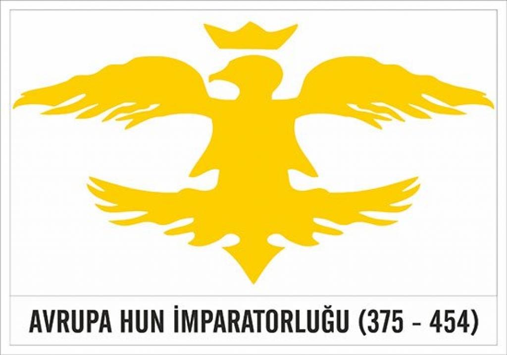 avrupa hun devleti imparatorluğu bayrağı